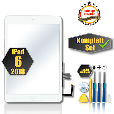 ✅Für iPad 6 2018 Touchscreen weiss Digitizer Display Glas inkl. Homebutton ✅
