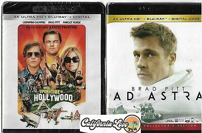 Ad Astra + Once Upon A Time In Hollywood 4K Ultra Hd + Blu-Ray✔☆Mint☆✔No Digital