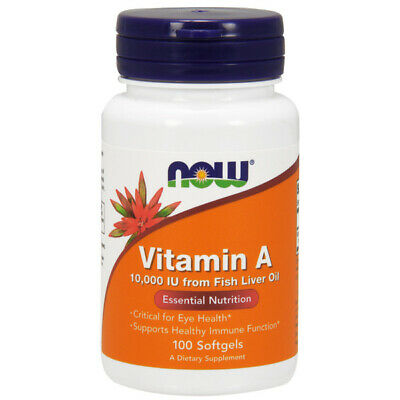 Vitamina a, 10.000iu x 100 Capsule Morbide - Now Foods