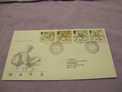 GB Royal Mail first day cover -1991 Ordanance Survey Map - Compass frank