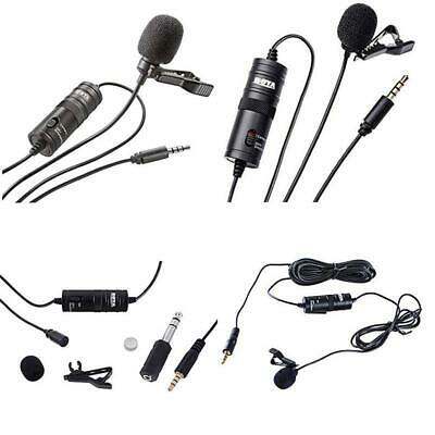 Boya Lavalier Lapel Clip-On Omnidirectional Condenser Microphone-20Ft Audio