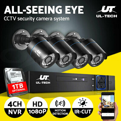 UL-tech CCTV Security System Home Camera DVR Outdoor Day Night Long Range 1TB
