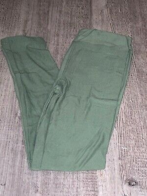 LuLaRoe kids L/XL Solid Green New leggings 8-12 NWT Large XLarge