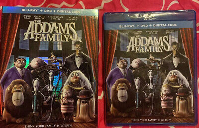 NEW - THE ADDAMS FAMILY [Blu-ray + DVD + Digital Code] [2019] W/SLIPCOVER