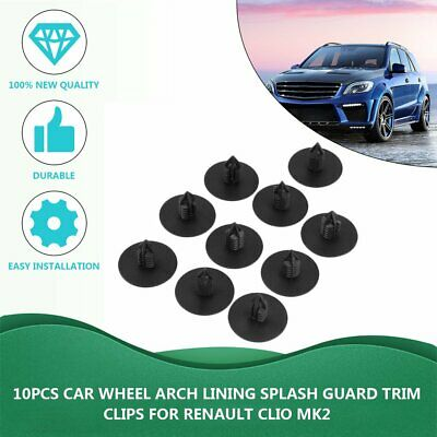 RENAULT WHEEL ARCH LINER SPLASH GUARD TRIM CLIPS CLIO MEGANE SCENIC 35MM X10
