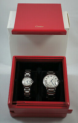 Coffret marqueterie montres Cartier/ Cartier marquetry watches box
