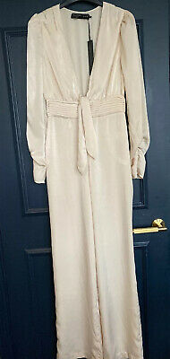 House Of Harlow Vera Jumpsuit In Ivory - XS