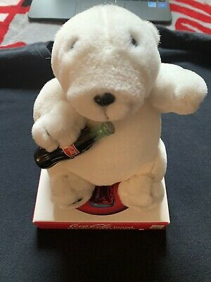 "Coca-Cola Brand Plush Collection ""Cola Bear"" Vintage Plush W/Box NEW"