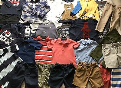 Boys 3-4 Years Large Clothes Bundle 30 Items. Next, Joules, H&M, Tommy Hilfiger.