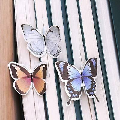 5Pcs/set Butterfly Shape Exquisite Mini Bookmark Stationery Reading Accessory A