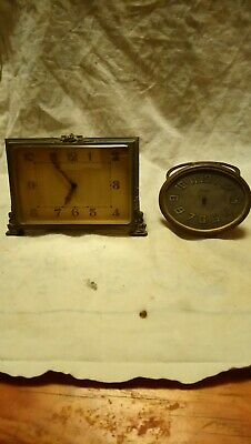 Two Old Antique Small Clocks For Spares Or Repairs