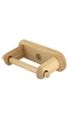 Wooden Toilet Paper Tissue Roll Storage Holder Wall Mounted Antique Beech Wood