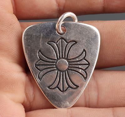 China 925 Silver Hand-Carved Fashion Collection Necklace Pendant Old Gift