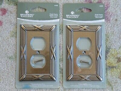 2 SEALED Brainerd Single Duplex Outlet Wall Plate Cover  64285  FREE SHIP