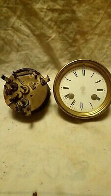 Two French Clock Parts For Spares Or Repairs