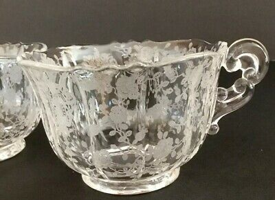 Cambridge Rose Point Crystal Cup (PAIR)  Lot of 2