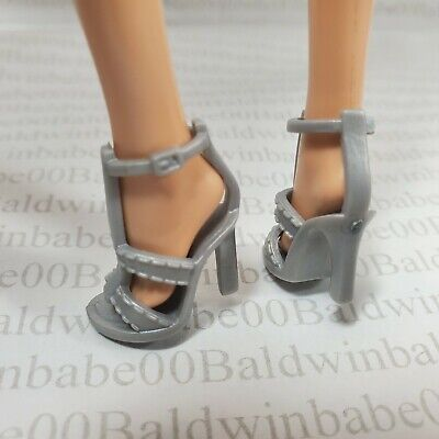 HS ~ SHOES BARBIE DOLL MODEL MUSE PINK BARBIE BASICS SANDALS MATTEL HIGH HEELS