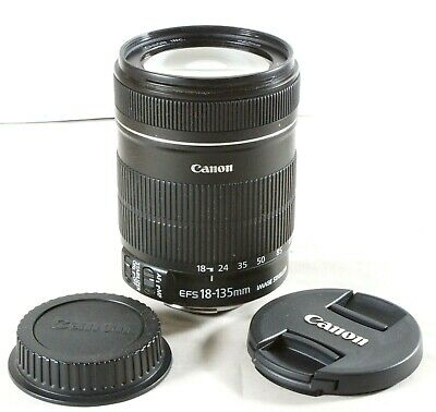 Canon EOS EF-S 18-135mm IS Zoom Lens Complete With Both Caps