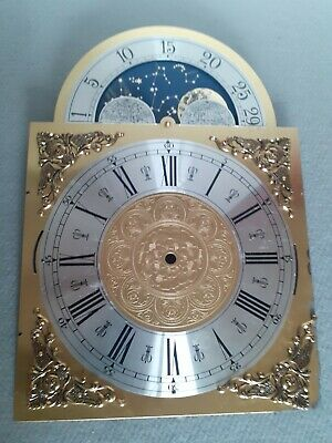 Grandfather Clock Face Dial .brass/project /Great upcycle possibilities