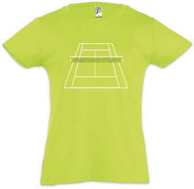 Tennis Court II Kids Girls T-Shirt Player Love Addiction Tennis Racket Field