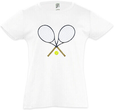 Tennis Rackets Kids Girls T-Shirt Player Passion Love Addiction Court Field