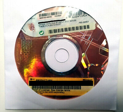 Genuine MICROSOFT OFFICE Home and Student 2007 Win32 Works with Windows 10 PC