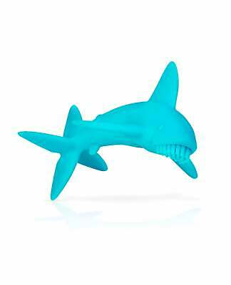 Nuby Blue Baby Shark Silicone Baby Teether | Soothing Teething Baby's Gums