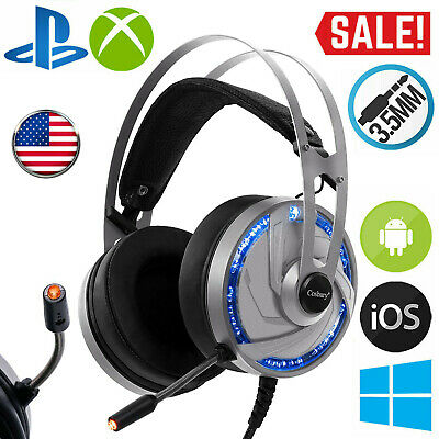 Pro Gaming Headset With Mic XBOX One PS4 Headphones Microphone Beats