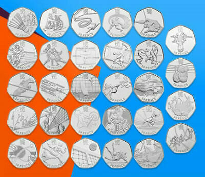 Cheapest Olympic 50p Coins Triathlon Football Judo Wrestling cheap Coin Hunt