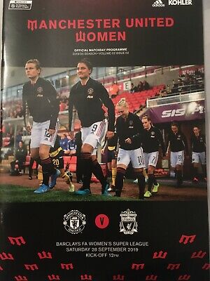 Manchester United Women v Liverpool Programme Women's Super League