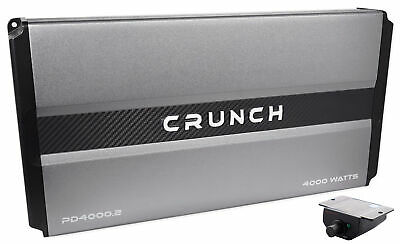 Crunch PD4000.2 4000 Watt 2-Channel Pro Power Car Audio Amplifier Class AB Amp