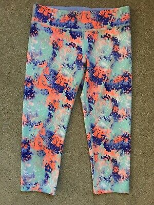 Girls Ivivva By Lululemon Size 12 Cropped Leggings Fun Comfy Stylish EUC
