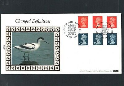 GB Machin FDC 7/8/90 Changed Defins 1st + 2nd P/M Windsor Berks