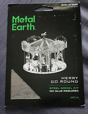 Giostra Con Cavalli Merry Go Round Metal Earth 3D Model Kit FASCINATIONS