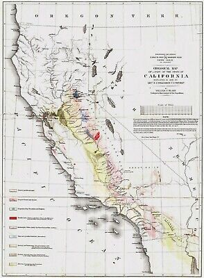 1853 [57] Geological Map of a part of the State of California