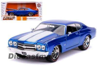 1969 Chevy Chevelle SS Coupe Die-cast Car 1:24 Jada Toys 8 inch Candy Blue