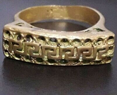 Ancient Medieval Ring Bronze Wearable Very Old Ornament Roman Unique Jewelry