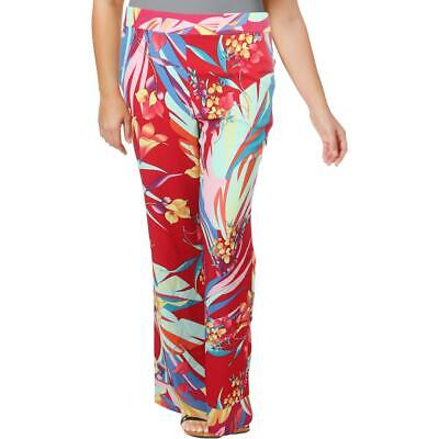 Basler Womens Floral Pull On Palazzo Wide Leg Pants BHFO 5969