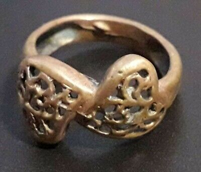 Ancient Roman Legionary Ring Bronze Stunning Engagement Ornament Old Rare Find