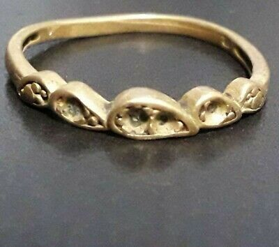 Ancient Roman Bronze Engagement Ring Artifact Unique Ornament Medieval Very Rare