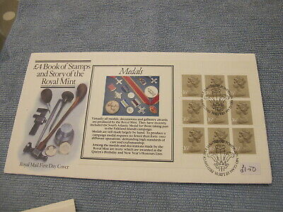 1983 GB Stamps First Day Cover / FDC - Medals  booklet pane