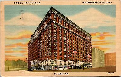St Louis MO Hotel Jefferson The Aristocrat of St Louis Postcard used 1952 (?)