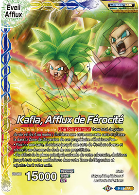 P-184 PR : Kafla, Afflux de Férocité | carte Dragon Ball Super Card Game DBS FR