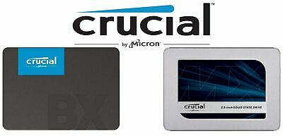 Crucial BX500 MX500 120GB 240G 250G 480G 960G 1TB Solid State Drive SSD 2.5""