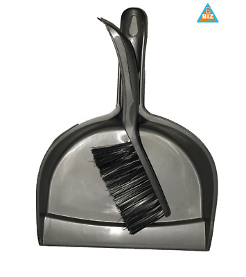 Plastic dust pan with plastic brush cleaning set for home office cleaning