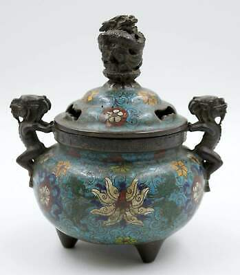 Drachen Cloisonne Bronze Räuchergefäß China Incense Burner Censer AsienLifeStyle