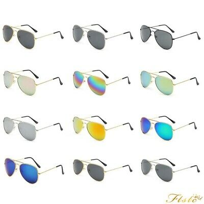 Lot Men Women Aviator Sunglasses Reflective Lens Gold Silver Frame Free Shipping