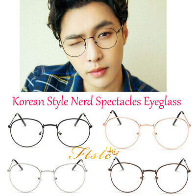 Korean Style Nerd Spectacles Eyeglass Metal Frame Clear Round Lens Glasses HIGH