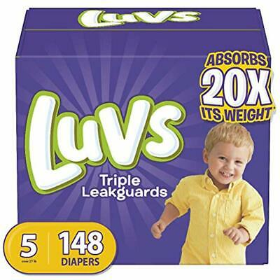 Diapers Disposable Size 5, 148 Count - Luvs Triple Leakguards Baby Diapers, ONE