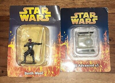Star Wars Darth Maul and  TIE Advanced X1 Mini Diecast Figures